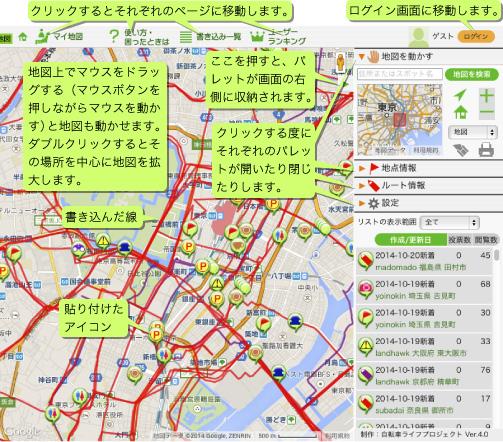 地図の見かた説明図